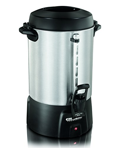 Commercial Aluminum Percolator - Proctor Silex Commercial 45060 Coffee Urn 60 Cup Aluminum, One Hand Dispensing, Coffee Level Indicator, 16.93