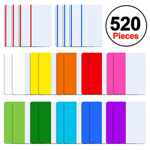 SIQUK 520 Pieces Tabs 2 inch Sticky Tabs Index Tabs Page Markers Colored Tape Flag Dispensers for Reading Notes, Books and File Folders, 26 Sets 12 Colors