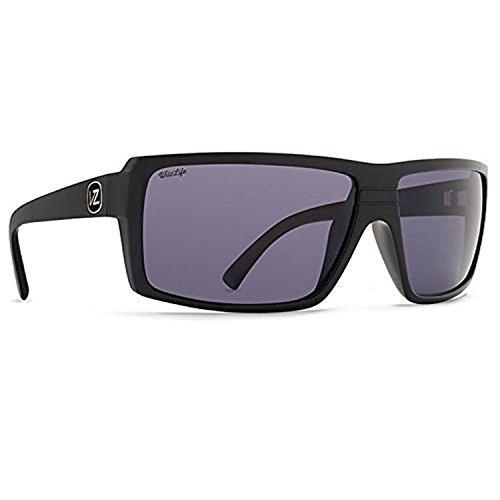 (Von Zipper Snark Sunglasses Black Gloss/Wild Vintage Grey Polarized & Carekit)