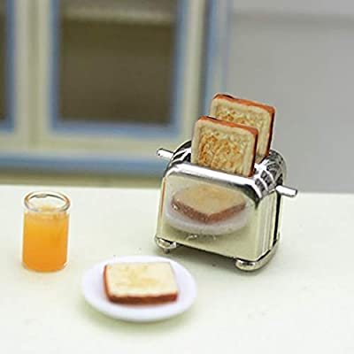 Aliturtle Miniature Decor Replacement Supplies for Dollhouse Accessories & Furniture - 1:12 Scale Mini Exquisite Bread Machine Maker Toaster for Kids Child Girls Boys Kitchen Dining Room Decoration: Sports & Outdoors