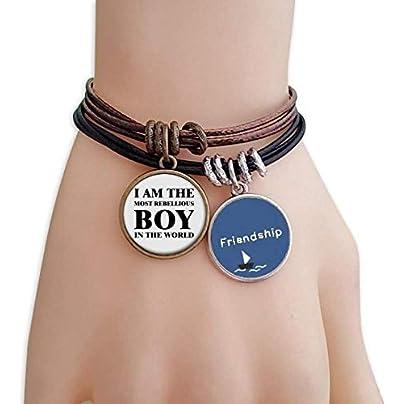 The Rebellious Boy Friendship Bracelet Leather Rope Wristband Couple Set Estimated Price -