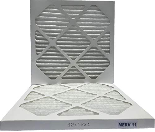 Filterene 12x12x1 Air Filter MERV 11 Allergen Control Pleated AC Furnace Air Filter, Pack of 2, USA Manufactured by Filterene (Image #3)