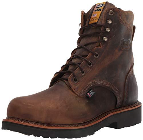Justin Original Work Boots Men's J-max Steel Toe Work Boot,Rugged Tan Gaucho,9 D US