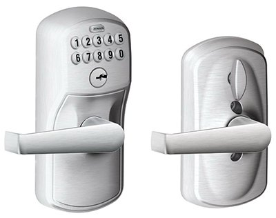 Schlage Lock Plymouth Elan Fe595Csv, Entry Door Keypad Lever, Satin by Schlage Lock Company