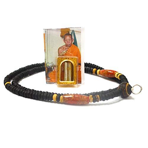 amulet Thai Jewelry Magic Pendants Gambling Takrut KooChok Laap in Oil (Double Lucky Takrut) by LP ()