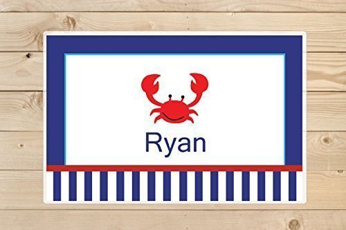 Kids-Personalized-Placemat---Crab-Laminated-Placemat-personalized gift idea for Boys