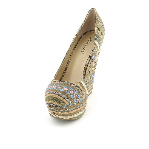 Cilo Breckelles Womens Natural 05S Breckelles Casual Multi Womens Wedge FqTHtxnZ