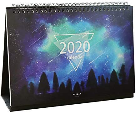 cuffslee 2020 Tischkalender Mit Aufklebern, Von Oktober 2019 Bis Dezember 2020 Zum Planen Und Organisieren Von 10 7.4-Zoll Verwenden