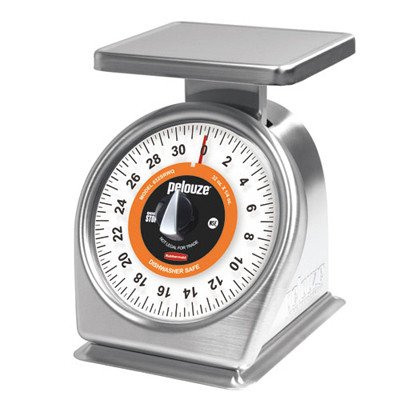 7-1//4 Length x 10-7//8 Width x 10-5//8 Height Rubbermaid Commercial FG840W Steel Washable Mechanical Portion Control Scale 40 lbs Capacity