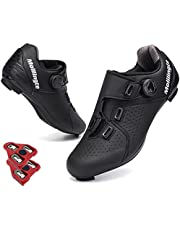 Molilingte Men's Road Bike Cycling Shoes Peloton Shoe for Men Bicycle Shoes Compatible with SPD and Delta Cleats