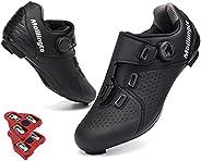 Molilingte Men's Road Bike Cycling Shoes Peloton Shoe for Men Bicycle Shoes Compatible with SPD and Delta