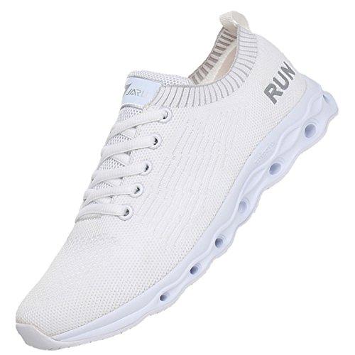 Tennis US5 10 Sneakers JARLIF Lightweight Shoes Women's Running White Athletic Fashion Walking 5 xwRPqYz