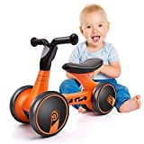 XJD Baby Balance Bikes Bicycle Children Walker 10 Month -24 Months Toys for 1 Year Old No Pedal Infant 4 Wheels Toddler First Birthday New Year Gift