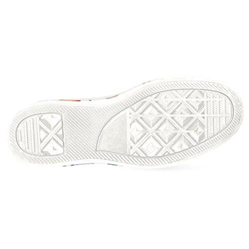 InterestPrint Frauen Loafers Klassische beiläufige Segeltuch-Beleg-auf Art- und Weise beschuht Turnschuhe-Ebenen Weiß