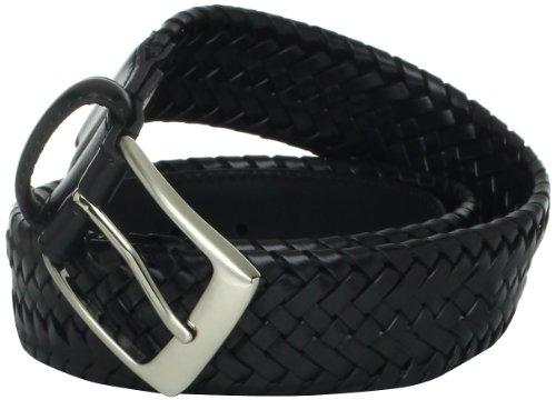 Straps Elastic Woven Satin - Danbury Men's Comfort Stretch Braided Belt, Black, 44