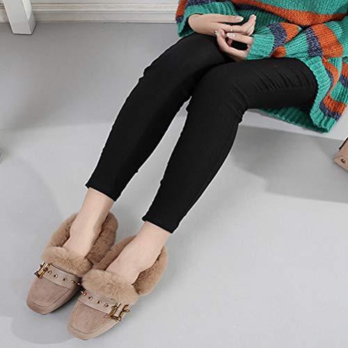 Espadrilles Automne A De Occasionnelles Semelles Mesdames Rivet Hiver Haricot Chaussures Plates 6r1O6