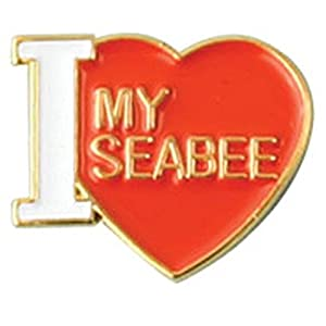 I Love My Seabee Lapel Pin