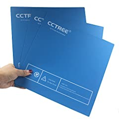 Size:235mm x 235mm  Color:Blue Background is made of 3M adhesive , easily stick on the heat bed platform HOW TO USE: There are 2 methods to attaching the build surface on heatbed: 1. clamp the build surface to the print bed using binder clips...