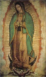 Our Lady Of Guadalupe Poster Virgin Of Guadalupe Poster Medium (Original Image Of Our Lady Of Guadalupe)