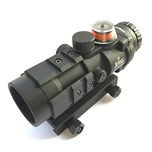 Gewehr-Bereich Airsoft 3X32 rote / grüne Faser-Optik-Anblick BDC Funktionsabsehen-Jagd-Welt Shopping4U