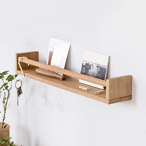 Bathroom Oak (INMAN Wooden Nursery Room Floating Wall Shelves Nursery Decor Baby's Room Kitchen Bathroom (Oak, 20