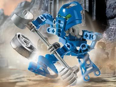 LEGO Bionicle Matoran Mini Figure Set #8586 Macku Dark Blue