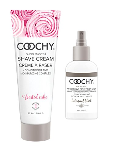 - Coochy Moisturizing Shave Cream and After Shave Mist- Rash Free Conditioning Creme and Mist Set Frosted Cake