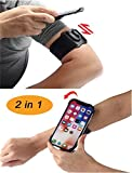 ZTSXLLIM Running Armband and Wristband 2 in 1 for iPhone 5/5s/Se/6/6S/6 Plus/7/7 Plus/8/8 Plus/X/Xs/Xr and Most Other Brand Smartphones,360 Degrees Rotatable and Separable Running Phone Holder