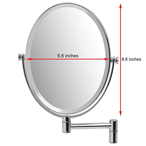 Mirrorvana-Oval-Wall-Mount-Mirror-Double-Sided-1X-5X-Magnification