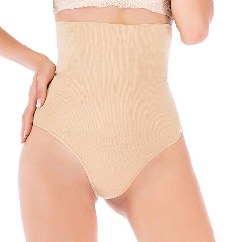 DODOING High Waist Cincher Trainer Panties for Women Tummy Control Shapewear Thong