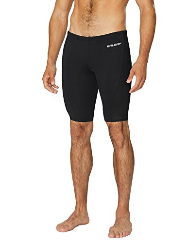 Baleaf Men's Durable Training Polyester Jammer Swimsuit Black Size - Swimsuit Mens Jammer