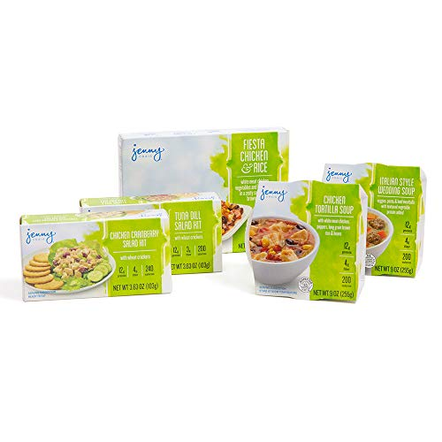 Jenny Craig Monday thru Friday Lunch-on-the-Go Pack, Soups, Chicken Salad, Tuna Kit, 5 Count
