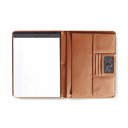 Left Handed Deluxe Folio - Full Grain Leather Leather - Cognac (brown) by Leatherology