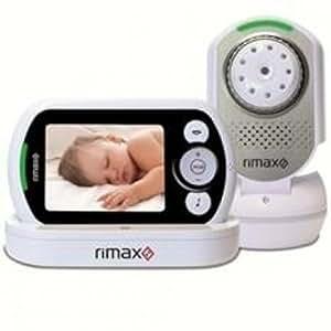 "Rimax - Vigilabebes de video rimax rb201 baby kangoo pantalla lcd 3,5"" conexion a tv, color blanco"