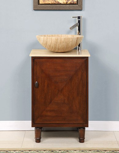 20″ Single Sink Travertine Top Bathroom Vanity Cabinet Lavatory Furniture 225T Review