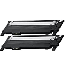 2 Pack - Compatible Black High Yield Toner Cartridge for CLT-406 #406 (2 Black) CLT-K406S Works With Following Printer Models: Samsung Xpress C410W, SL-C410W, SL-C460FW, SL-C460W / CLP-360, CLP-365, CLP-365W / CLX-3305FW by Forlei® Products