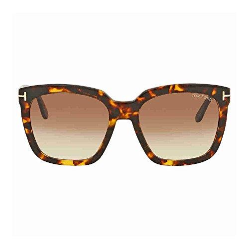 6674c3aab8e5 Tom Ford FT0502 52F Dark Havana Amarra Square Sunglasses Lens Category 2  Size 5 - Buy Online in Oman.