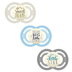 MAM Produit bébé Perfect Night Lot de 3 sucettes, luminescentes, 6 mois et + neutres // Lot de trois // 3 étuis de transport stérilisés inclus. 8
