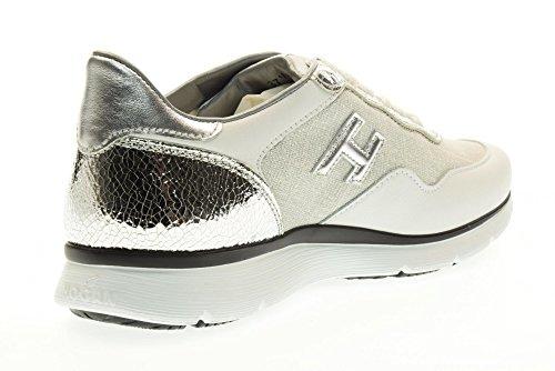 HOGAN Women's low HXW2540W651FPX0906 H254 sneakers White / Silver TOFLx5