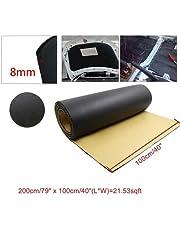 LSB de espuma de la hoja de goma, 1pc 5 mm / 8 mm / 10 mm de espesor de espuma de goma de la puerta posterior del coche automático de aislamiento de sonido insonoro deadener la estera del cojín