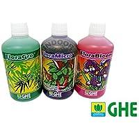 GHE Pack FLORA serie agua dulce 3x 500ml