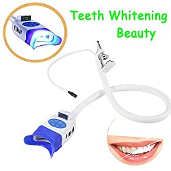 BONEW 36W LED Teeth Whitening Beauty Lamp Holding on Table Instrument Dental Cold Machine for Clinic and Beauty Accelerator Bleaching System With Arm holder Dentist With 10pcs LED Blue Light YS-TW-C
