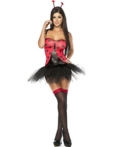 Sexy Milf Bug 6 Piece Costume in Red/Black, Extra Large (Costume Milf)