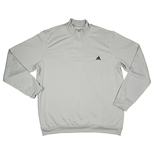 Adidas Mens Climalite Active Poly 1/4 Zip Pullover XX-Large Chrome