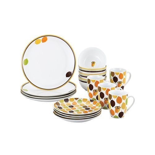 Little Hoot 16 Piece Dinnerware Set by Rachael Ray