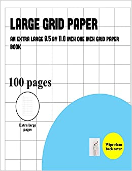 large grid paper one inch grids an extra large grid paper book