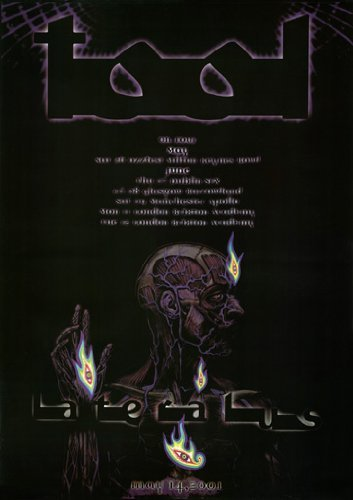 HSE Tool Lateralus Poster 2001 Tour Rare HOT New 24X36