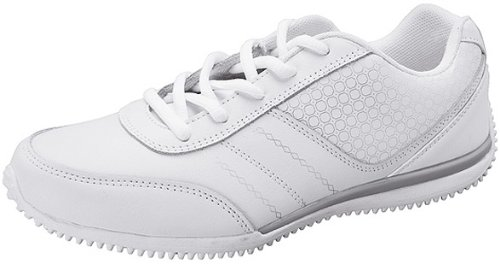 ScrubStar Leather Athletic Holly Shoe QHOLLY 9.5-Wide White Wide