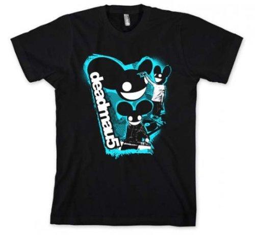 Deadmau5 Three Head Logo Slim Fit T-Shirt Small