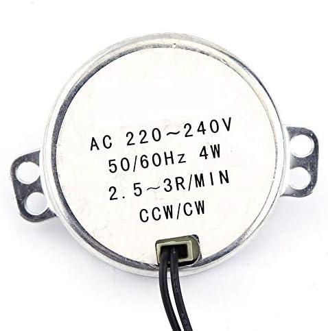 AC 220-240V 4W Moteurs Synchrones 50//60Hz CCW//CW Moteur /à Engrenages de Synchronisation 5-6RPM